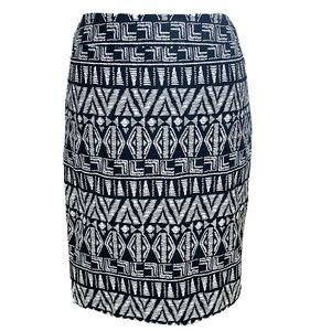 Cynthia Rowley Tribal Print Cotton Pencil Skirt